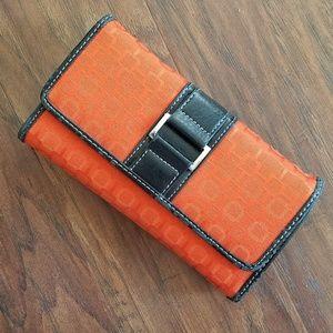 Orange Patterned Wallet